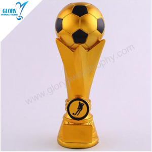 Quality Resin Gold Cheap Football Soccer Trophies