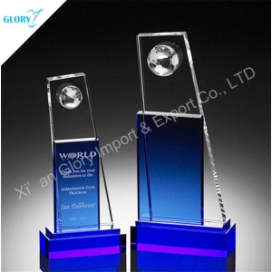 Custom Globe Blank Awards Plaques and Trophies for Activity