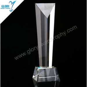 Cheap Faceted Pillar Crystal Awards for Film Trophies