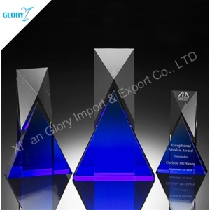 Personalize Vip K9 New Design Crystal Trophy Award