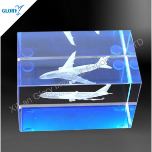 Wholesale 3d Laser Engraving Airplane Gift for Souvenir