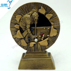 Wholesale New Resin China Billiard Trophy