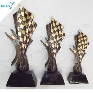 Racing Mamorial Resin Trophy Figure Award for Souvenir