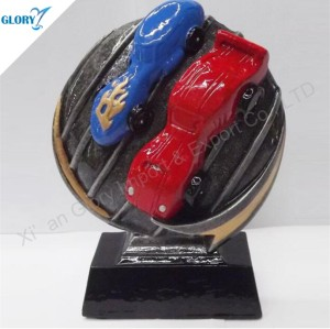 Wholesale Resin Kart Car Trophies for Souvenir