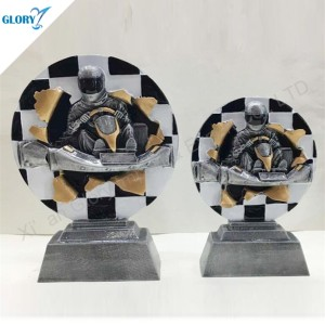 New Design Resin Car Kart Trophy for Winner