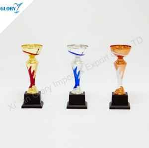 Beautiful Golden Silver Bronze Plastic Trophy Cup