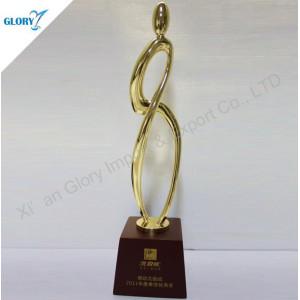 Custom Golden Metal Trophy Figurines