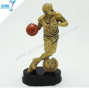 Wholesale Vivid Resin Basketball Awards for Teenager