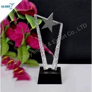 Rising Star Trophy K9 Crystal Shooting Star Award