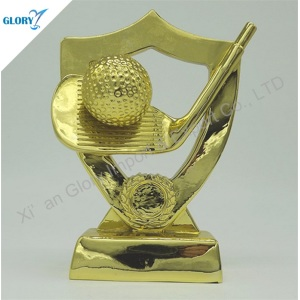 New Design Import Golden Resin Hole in One Trophies