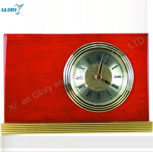 Engraved Souvenir Fun Wooden Custom Clock for Desk Table