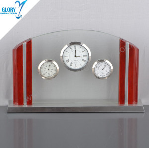 Unique Anniversary Glass Desk Clocks for Souvenir
