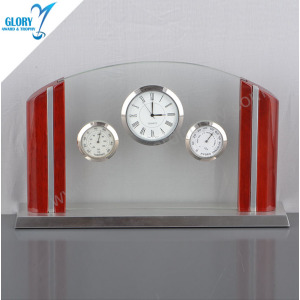 Unique Anniversary Glass Desk Clocks for Souvenir