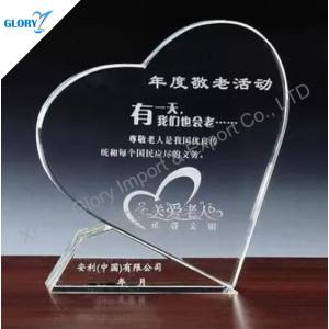 Funny Heart Shape Crystal Award Trophy for Souvenir