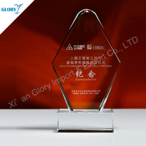 Customized Crystal Torphies Plaque Awards