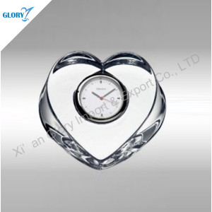 Personalized Glass Crystal Heart Clock Wedding Favor Gifts