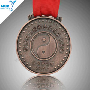 Wholesale Blank Metal Tai Chi Sport Medals Made in China