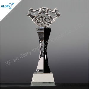 Handshake Trophy Crystal Hand Award for Corporate Souvenir