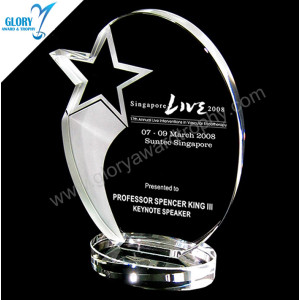 Classic Style Shooting Star K9 Crystal Trophies
