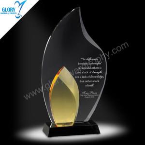 China Custom Blank Crystal Flame Awards
