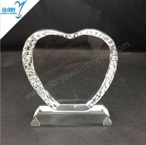 Custom Blank K9 Crystal Heart Award