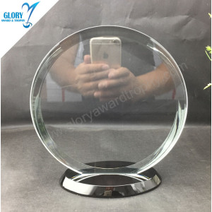 Wholesale Best Round Crystal Plaques trophies for Companies Events