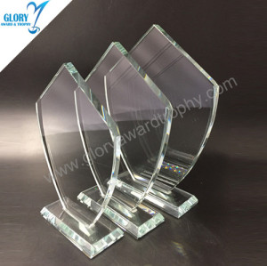 Chinese Supplier wholesale glass trophy Awards 2018