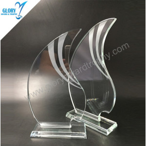 Wholesale New Clear glass flame glass awards trophies 2018