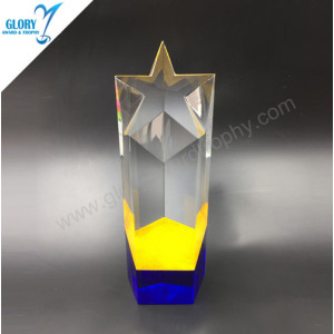Wholesale Colorful k9 star trophy Awards China