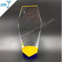 2018 Colorful high quality crystal pillar trophy  Awards