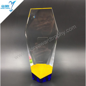 2018 Colorful high quality crystal pillar trophy  Awards