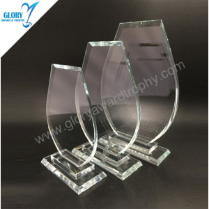 China Cheap crystal glass trophy awards plaque vender