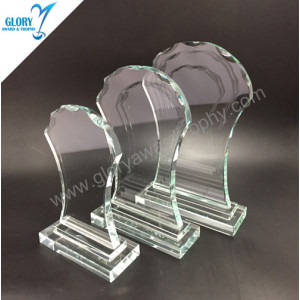 China Pujiang cheap crystal glass trophies awards fengshui style