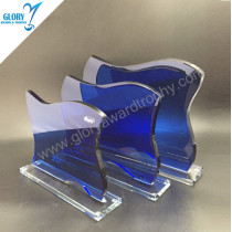 China Blue stock glass trophy award medals wholesale
