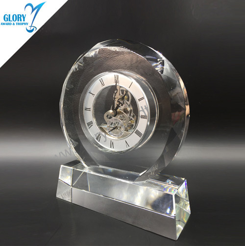 Wholesale Elegant Desk Clock Crystal Gift for Souvenir