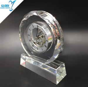 New design China pujiang crystal business gifts clock 2019