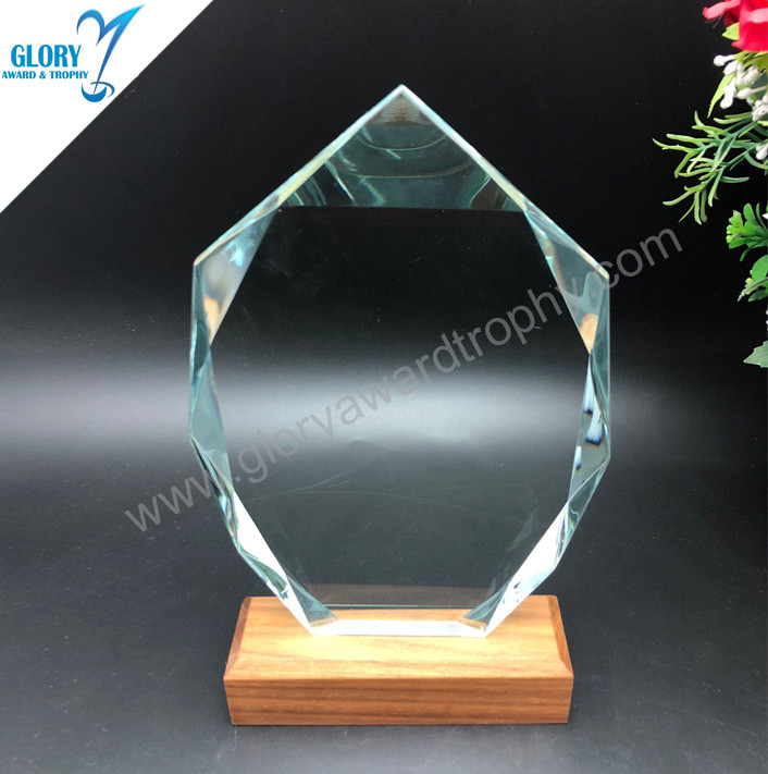 Hot sale glass trophy custom wholesale in China  factory