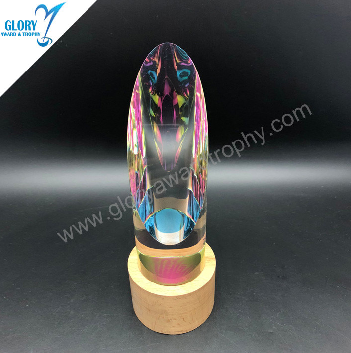 China tip-top quality K9 crystal trophy custom