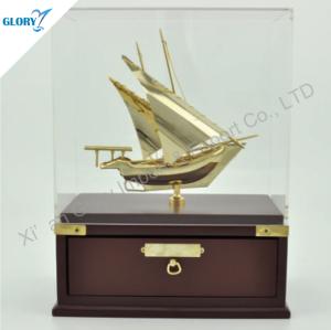 Elegant Model Sailing Ships with Wood Base