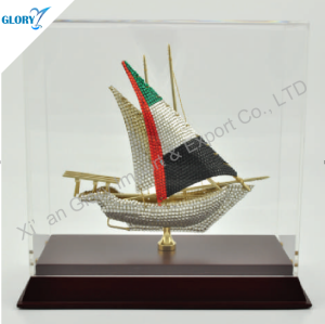 Antique Metal Ship Model Souvenir