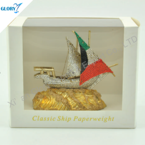 Colorful Metal Model Ship Gift for Souvenir