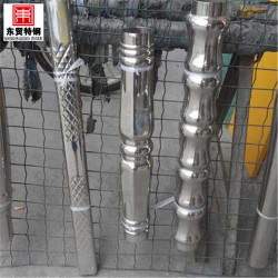 welded stainless steel embossed tube