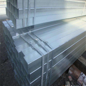 a36 galvanized square shape steel pipe