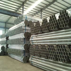 High quality mild steel pipes  2'' galvanized carbon steel pipe