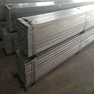 S235JR galvanized steel pipe/tube in square tube/pipe