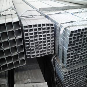 115x42 mm PRE-galvanized rail fence rectangular  shaped steel pipe