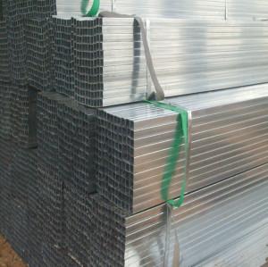 JIS G3454 Pre Galvanized Square / Rectangular Steel Pipe/Tube