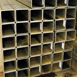 Black painted 24 inch rectangular steel pipe