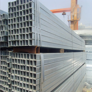 cold rolled zinc coated rectangular steel pipe