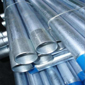 Hot dip galvanized antibacterial steel pipe and fittings